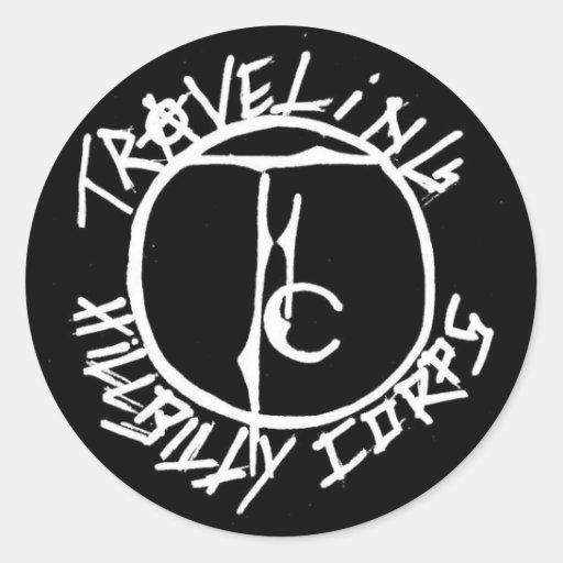 LOGOTIPO del cuerpo del Hillbilly que viaja Etiqueta