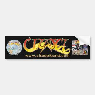 ¡Logotipo del ® de la ciudadela y arte CD en pegat Etiqueta De Parachoque
