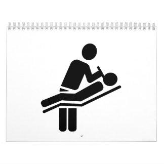 Logotipo del dentista calendarios