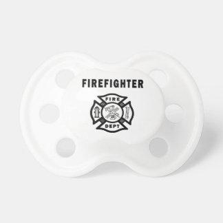 Logotipo del departamento del fuego del bombero chupetes