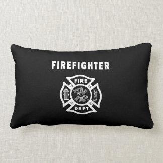 Logotipo del departamento del fuego del bombero almohadas