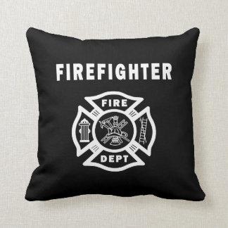 Logotipo del departamento del fuego del bombero almohada