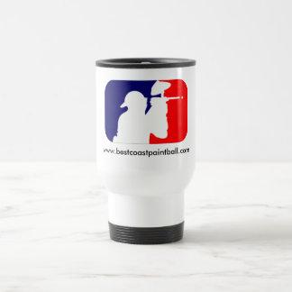 Logotipo del deporte de BCP Paintball Taza De Viaje