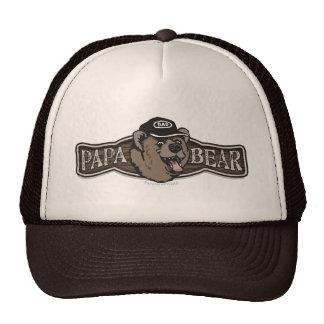 Logotipo del desgaste del oso de la papá gorro de camionero
