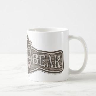 Logotipo del desgaste del oso de la papá taza de café