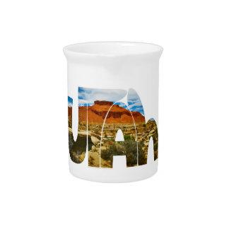 Logotipo del desierto de Utah Jarrón