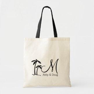 Logotipo del destino de la palmera de DIY Bolsa Tela Barata