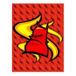 Logotipo del diablo postal