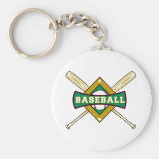 logotipo del diamante de béisbol llaveros personalizados