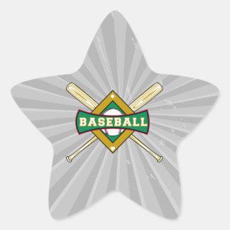 logotipo del diamante de béisbol pegatina en forma de estrella