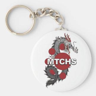 Logotipo del dragón de MTCHS Llavero Redondo Tipo Pin