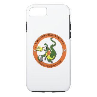 Logotipo del dragón del mantenimiento de Navsecgru Funda iPhone 7