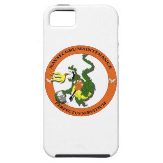 Logotipo del dragón del mantenimiento de Navsecgru iPhone 5 Fundas