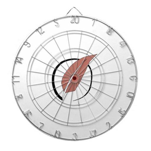 Logotipo del edredón tabla dardos