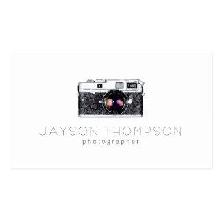 Logotipo del ejemplo de la cámara del vintage del tarjetas de visita