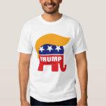 Logotipo del elefante del GOP del pelo de Donald Playera