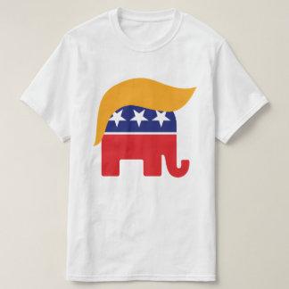 Logotipo del elefante del GOP del pelo de Donald Poleras