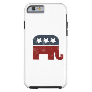 Logotipo del elefante del GOP Funda Para iPhone 6 Tough