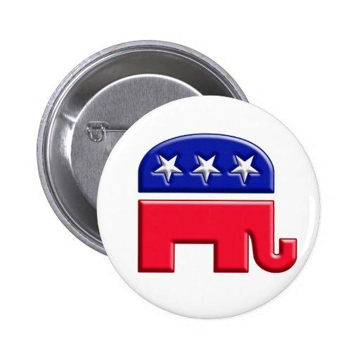 Logotipo del elefante del GOP Pins