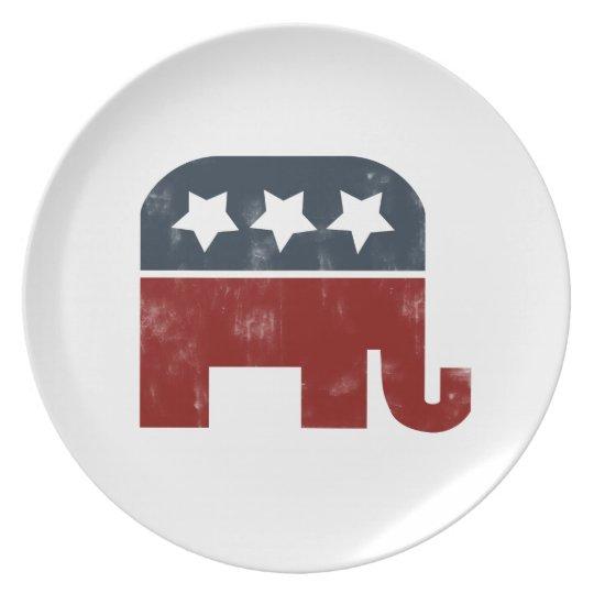 Logotipo del elefante del GOP Platos De Comidas
