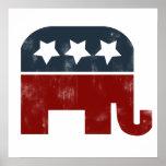Logotipo del elefante del GOP Posters