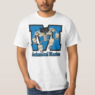 Logotipo del equipo de la robótica de la escuela remeras