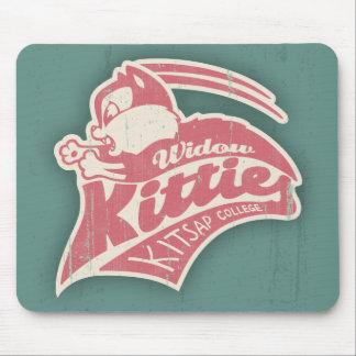 Logotipo del equipo de los gatitos de la viuda tapete de raton