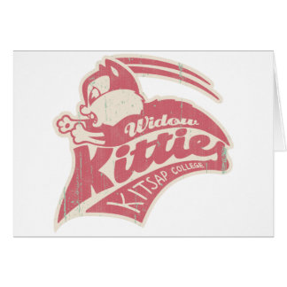 Logotipo del equipo de los gatitos de la viuda felicitaciones