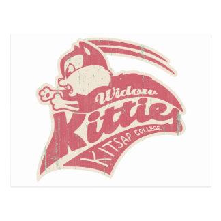 Logotipo del equipo de los gatitos de la viuda postal