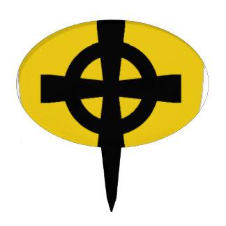 Logotipo del escudo de la criatura decoración de tarta