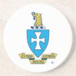 Logotipo del escudo de la ji de la sigma posavasos manualidades