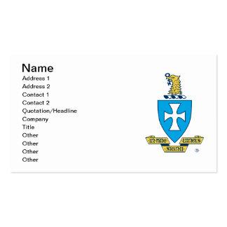 Logotipo del escudo de la ji de la sigma tarjetas de visita