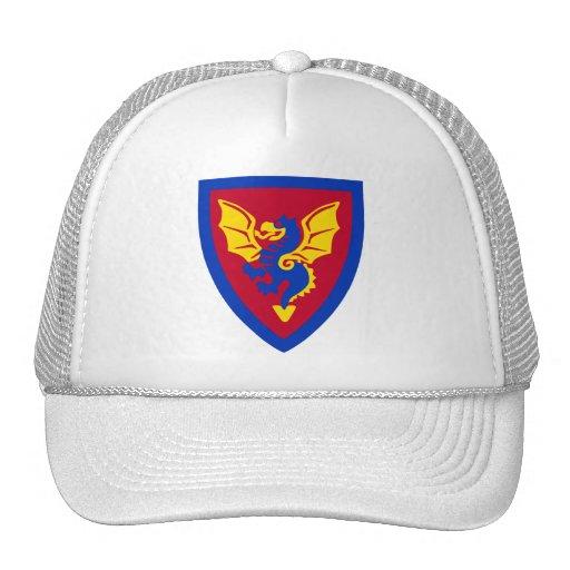 Logotipo del escudo del caballero del ladrillo del gorros