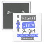 Logotipo del esófago de la etiqueta del cáncer que pins