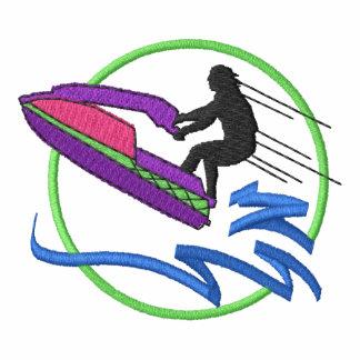 Logotipo del esquiador del jet