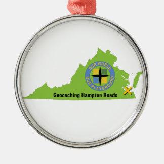 Logotipo del estado de GCHR Adorno Navideño Redondo De Metal