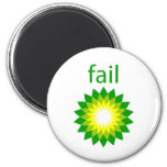 Logotipo del fall del derrame de petróleo de BP Imán De Frigorifico