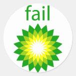 Logotipo del fall del derrame de petróleo de BP Pegatinas