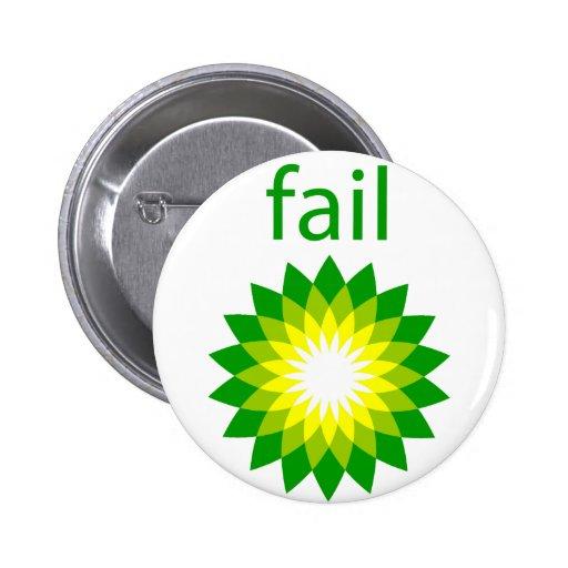 Logotipo del fall del derrame de petróleo de BP Pin Redondo 5 Cm