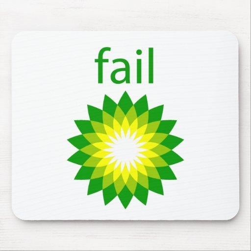 Logotipo del fall del derrame de petróleo de BP Alfombrillas De Raton