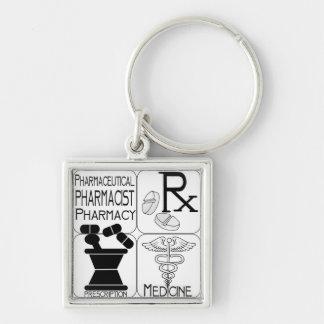 LOGOTIPO del farmacéutico de la farmacia Llavero Personalizado