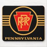Logotipo del ferrocarril de Pennsylvania, negro y Mousepad