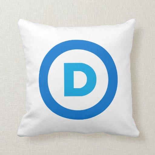 Logotipo del fiesta Democratic Cojín