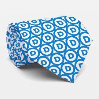 Logotipo del fiesta Democratic Corbata Personalizada