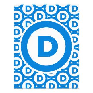 Logotipo del fiesta Democratic Plantilla De Membrete