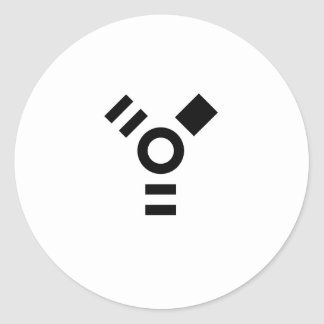 Logotipo del firewire pegatina redonda