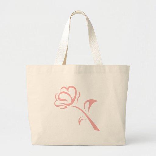 Logotipo del florista en estilo del dibujo del cha bolsas de mano