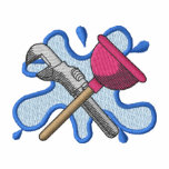 Logotipo del fontanero sudadera bordada con capucha