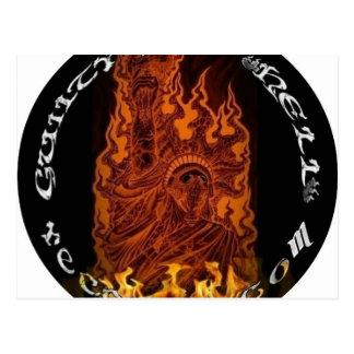Logotipo del fuego tarjetas postales