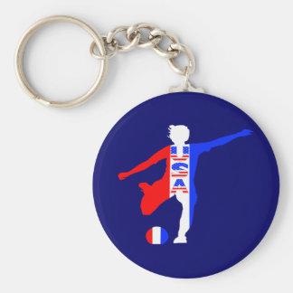 Logotipo del fútbol de las mujeres de los E.E.U.U. Llaveros